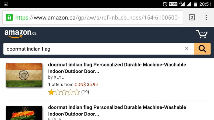 Though there is no official apology from Amazon or from its India or Canada subsidiaries it seems that the outrage the doormats based on the Indian flag on ...  sc 1 st  SwiftInformer & Amazon removes Indian flag doormats from website after Sushma ...